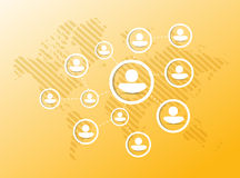 People diagram network illustration Royalty Free Stock Photography
