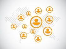 People diagram network illustration Stock Image