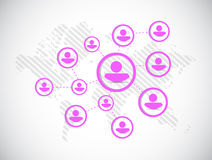 People diagram network illustration Royalty Free Stock Photo