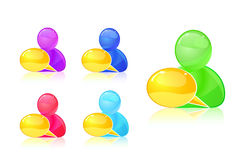 People with dialog box icon set. Royalty Free Stock Image