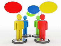 People and dialog speech bubbles Royalty Free Stock Image