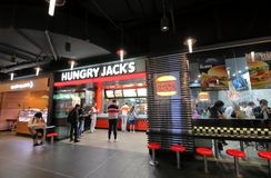 Hungy Jacks fast food restaurant Melbourne Australia stock photos