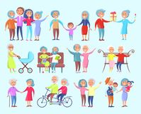 People of Different Age Isolated Illustration Stock Images