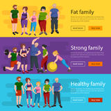 People with different body mass Stock Photo