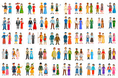 People of different countries in traditional costume Royalty Free Stock Photo