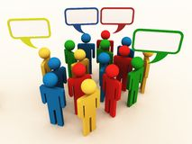 People of different culture talking in group Royalty Free Stock Photography