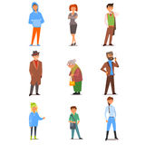 People of Different Lifestyle, Age and Profession royalty free illustration