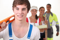 People with different occupations. Young people with different occupations Royalty Free Stock Photo