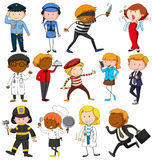 People with different occupations. Illustration Stock Images