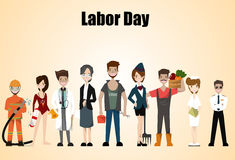 People of different occupations. Professions set. International Labor Day. Concept website template. Flat Vector illustration Stock Images