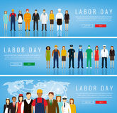 People of different occupations. Professions set. International Labor Day. Royalty Free Stock Photos