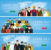 People of different occupations. Professions set. International Labor Day. Stock Photos