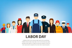 People of different occupations. Professions set. International Labor Day. Flat Vector Royalty Free Stock Photo