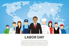 People of different occupations. Professions set. International Labor Day. Flat Vector Royalty Free Stock Images