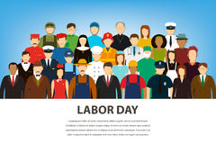 People of different occupations. Professions set. International Labor Day. Flat Vector Stock Photography