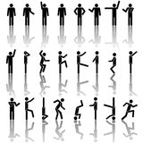 People in different poses vector Icon Stock Photography