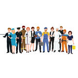 People different profession. Man and woman vector illustration set Stock Photography