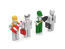 People of different professions royalty free illustration