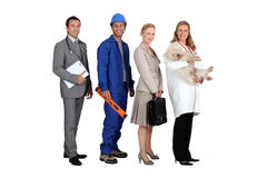 People from different professions. Four people from different professions Stock Photo