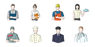 People of different professions icons in set collection for design.  Stock Photography
