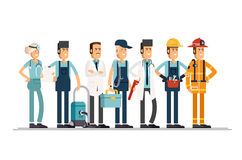 People of different professions Royalty Free Stock Photo