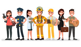 People of different professions. Labor Day. Vector illustration Royalty Free Stock Photos