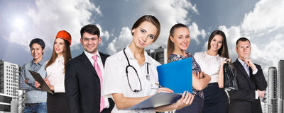 People with different professions royalty free stock photography