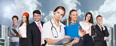 People with different professions Royalty Free Stock Photos