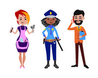 People different professions vector illustration. Royalty Free Stock Image