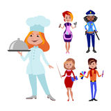 People different professions vector illustration. Stock Images