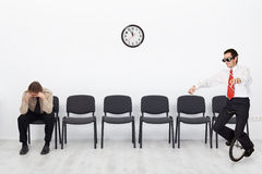People with different qualifications at the job interview Stock Photography