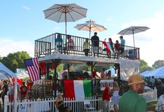 People Dine at an Elevated Eatery at the Memphis Italian Festival Royalty Free Stock Photography