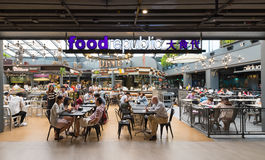 People dine at Siam center in Bangkok City, Thailand Royalty Free Stock Photography
