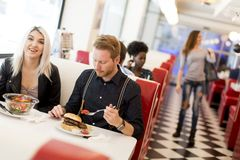 People in diner Royalty Free Stock Images