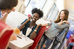 People in diner Stock Photography