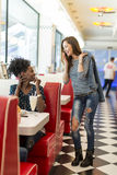 People in the diner. View of the people meeting in the diner Royalty Free Stock Photography