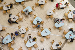 People dining in food court in Brisbane Royalty Free Stock Photos