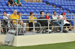 People with disabilities in the stadium Stock Photo