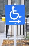 People with disability sign Stock Images