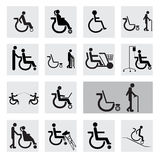 People disable  icon set  illustration eps10 Stock Images