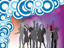 People disco background Royalty Free Stock Image