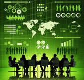 People Discussing About Global Communication. Group of Corporate People Discussing About Global Communication Issues royalty free illustration