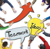 People Discussing About Teamwork and Ideas Royalty Free Stock Photo