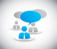 People discussing together icons vector Stock Images