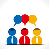 People discussion. With message bubble Royalty Free Stock Photos