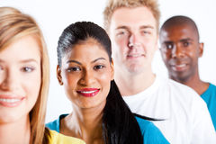 People diversity. Group of diverse people closeup portrait Royalty Free Stock Photo