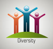 People diversity colorful icon Stock Photography
