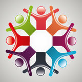 People diversity colorful icon Royalty Free Stock Photo