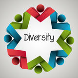 People diversity colorful icon Royalty Free Stock Images