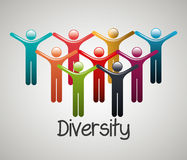 People diversity colorful icon Royalty Free Stock Photos